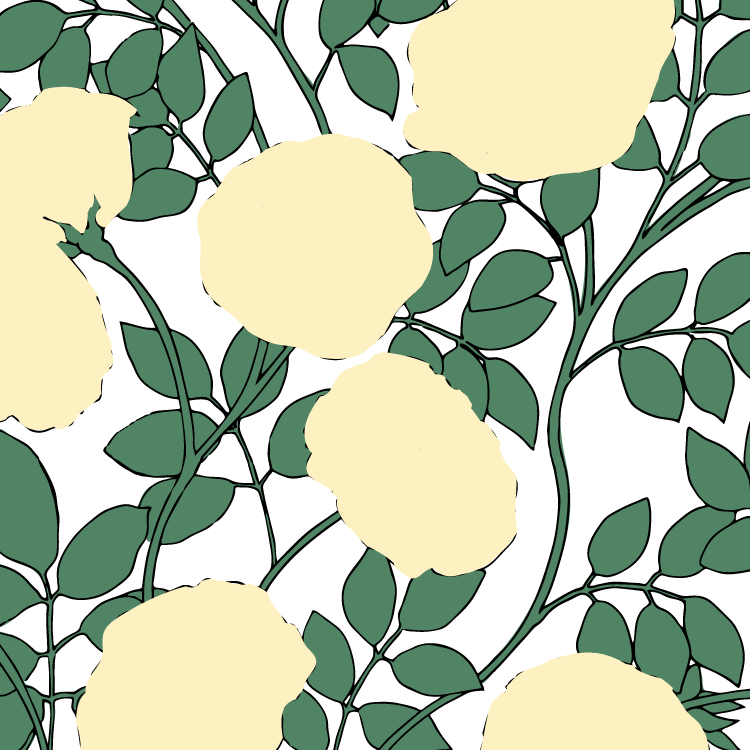 The Process Behind The Pattern Design Rose Garden In 2020 Pattern Design Pattern Repeat Prints
