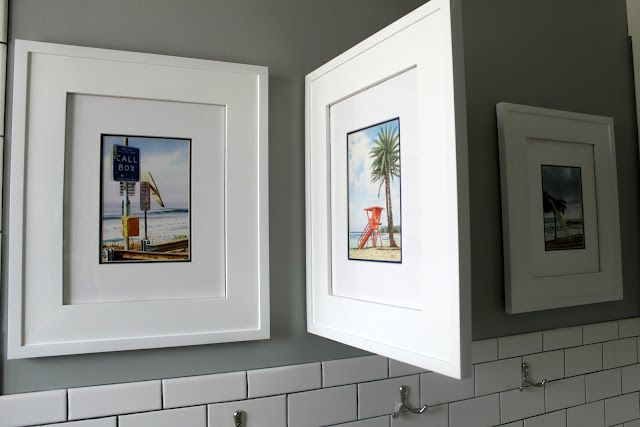 Concealed Medicine Cabinets (that Look Like Picture Frames)