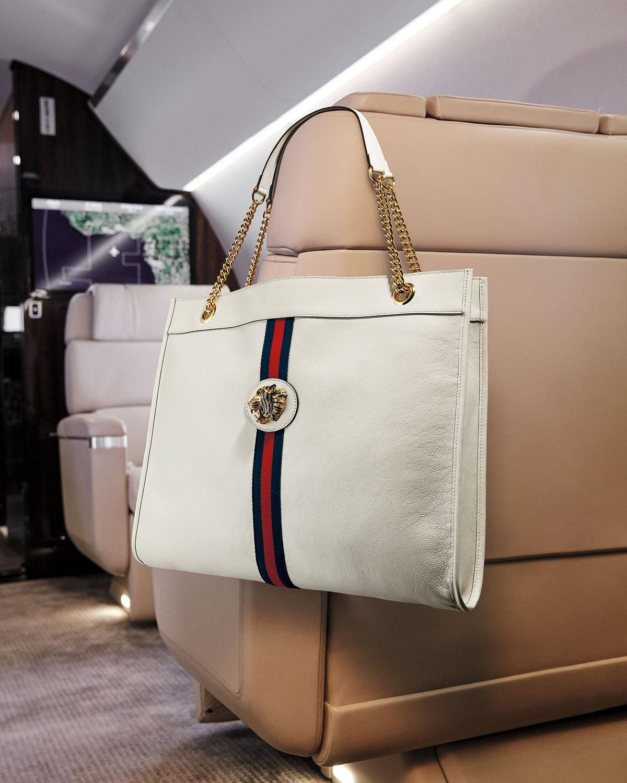 3473f9fa84bb4 Gucci Rajah Large Leather Tote Bag in 2019