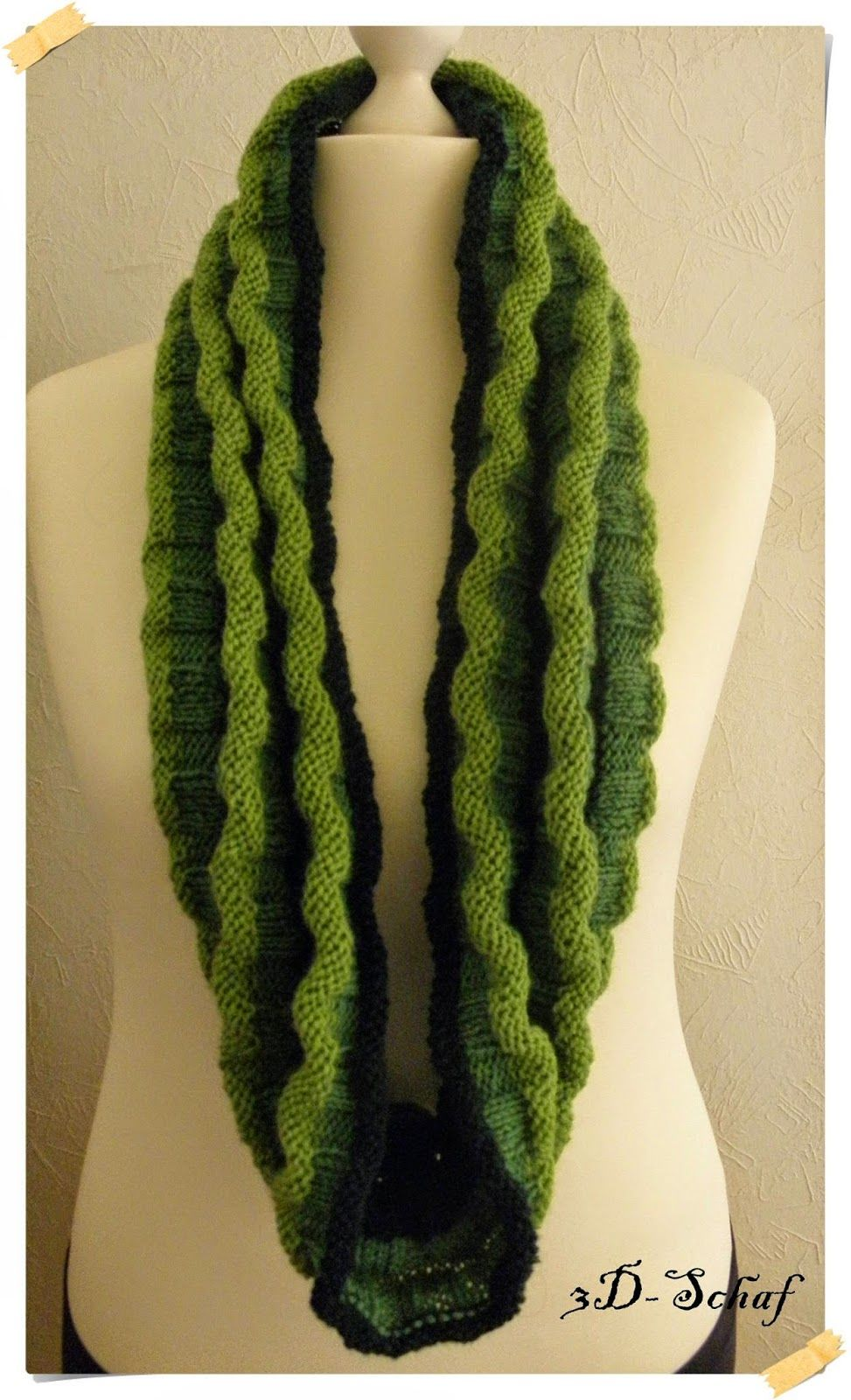 Wellenloop mit kurzer Anleitung | Stricken / Knitting | Pinterest ...