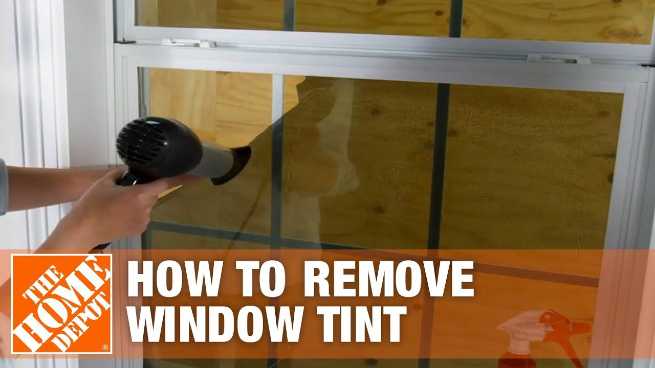 How to Remove Window Tint The Home Depot YouTube in