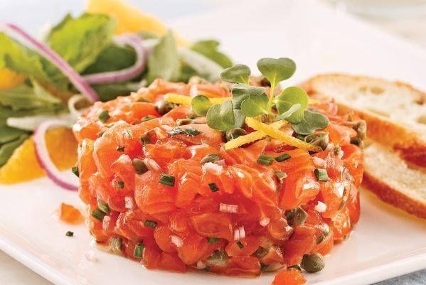 TARTAR DE SALMN  Pescado  Tartaro de salmon Ceviche y Recetas