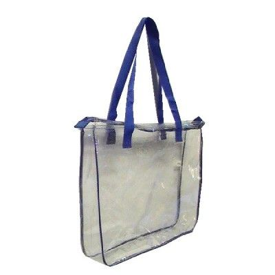 The Custom Branded Zippered Clear Tote Bag has shoulder length straps   a  large deep main 3a41b04fc059a