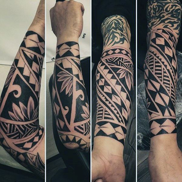 wrist and forearm maori male tattoos onderarm