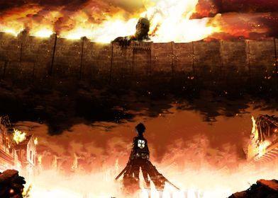 'Shingeki No Kyojin Attack ' Poster by wallmelton   Displate