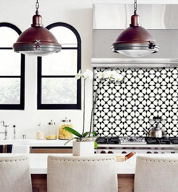 Patterned Peel + Stick Floor Tiles | Cocinas