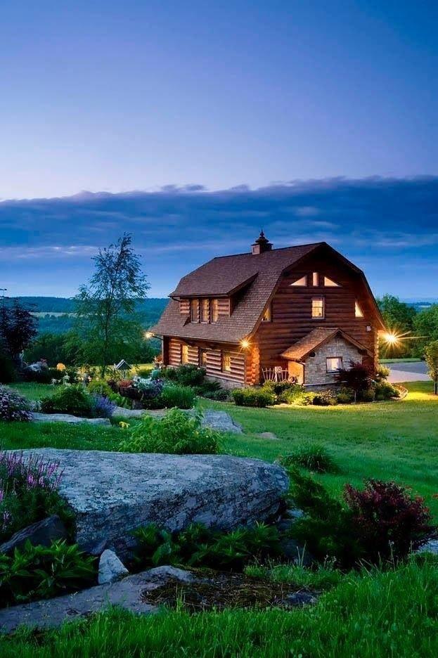 Love Barn Style Log Barn House Log Homes Architecture