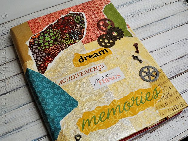 Tutorial Book Cover Craft Faux Vinyl With Mod Podge Via