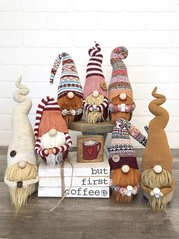Fur Leg Warmer Gnome -- Christmas Gnome -- Holiday Gnome -- Christmas Decor -- C...