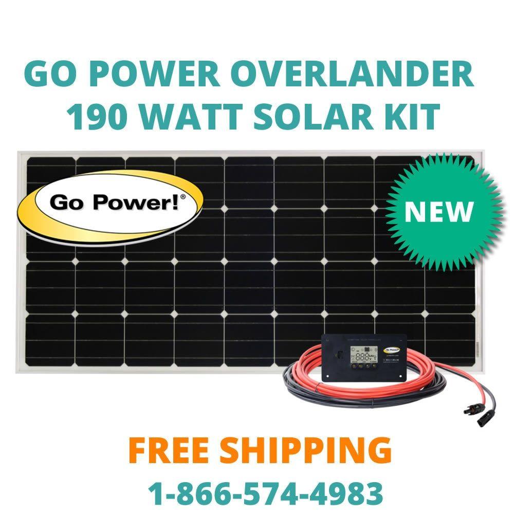 Go Power Overlander 190 Watt Solar Kit Solar Kit Solar Rv Solar
