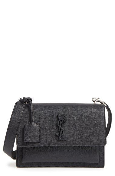 2548897bd4ea Free shipping and returns on Saint Laurent Medium Sunset Leather Crossbody  Bag at Nordstrom.com. A leather-wrapped YSL logo adds understated  sophistication ...