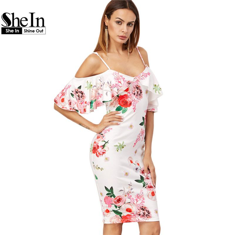 Women/'s Dress Summer Ruffled Fashion Dress Cocktail Casual Knee-Length