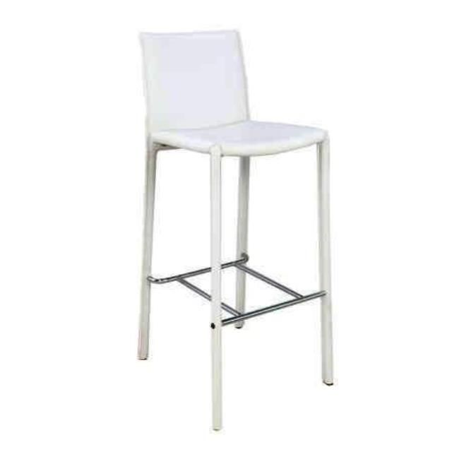 Where To Find White Valencia Leather Padded Stool In San Francisco Padded Stool Bar Stools Stool