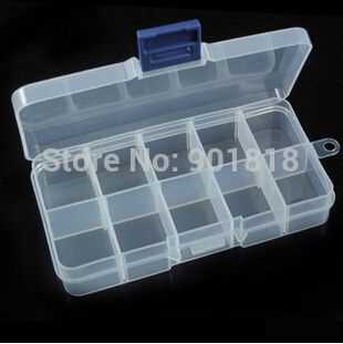 10 Slots Jewelry Tool Plastic Box Case Craft Organizer Storage Beads Jewelry Finding Org Plastic Box Storage Nail Art Hacks Jewelry Organizer Storage