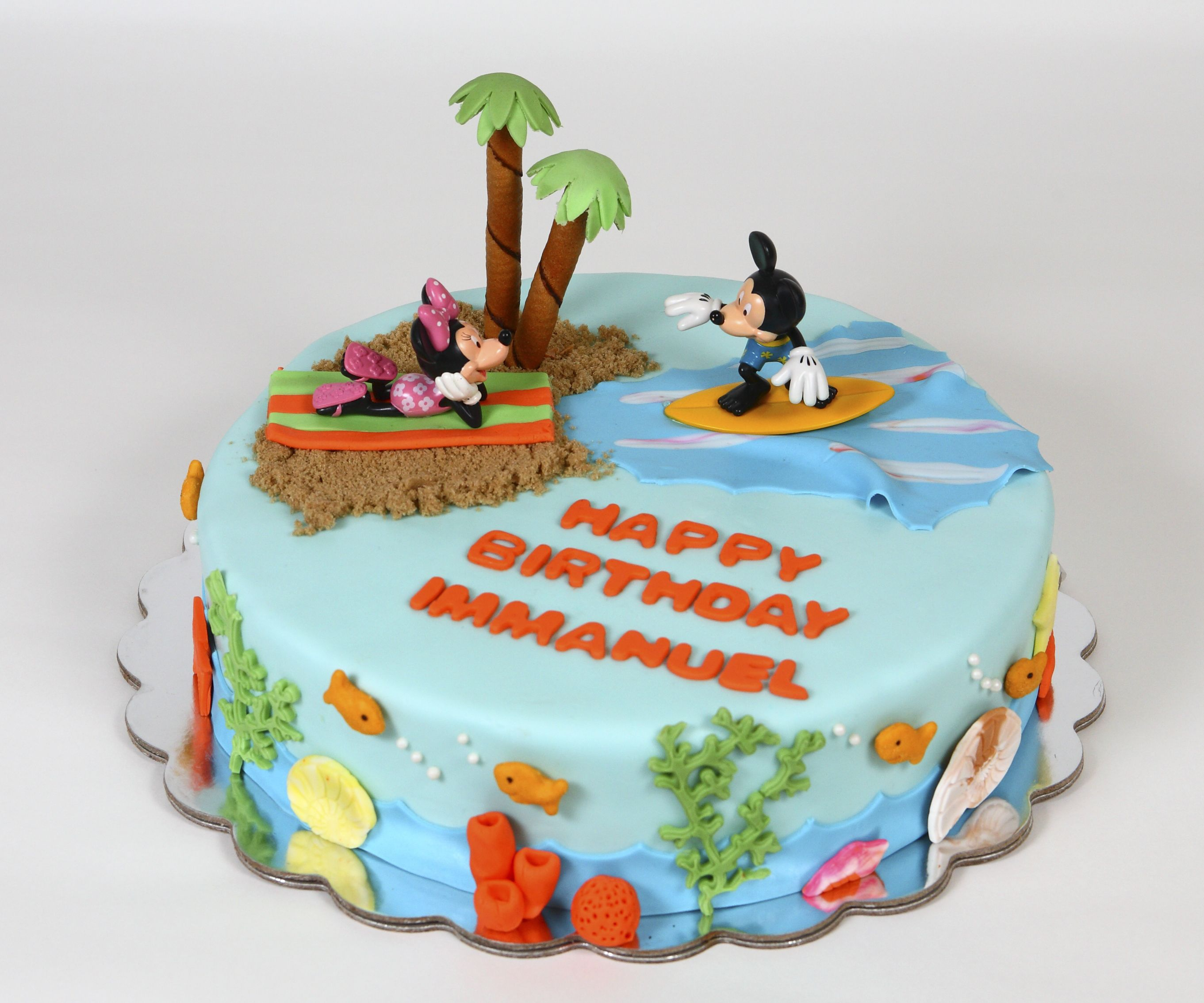 Mickey Mouse Surfing Beach Themed With Images Luau Birthday