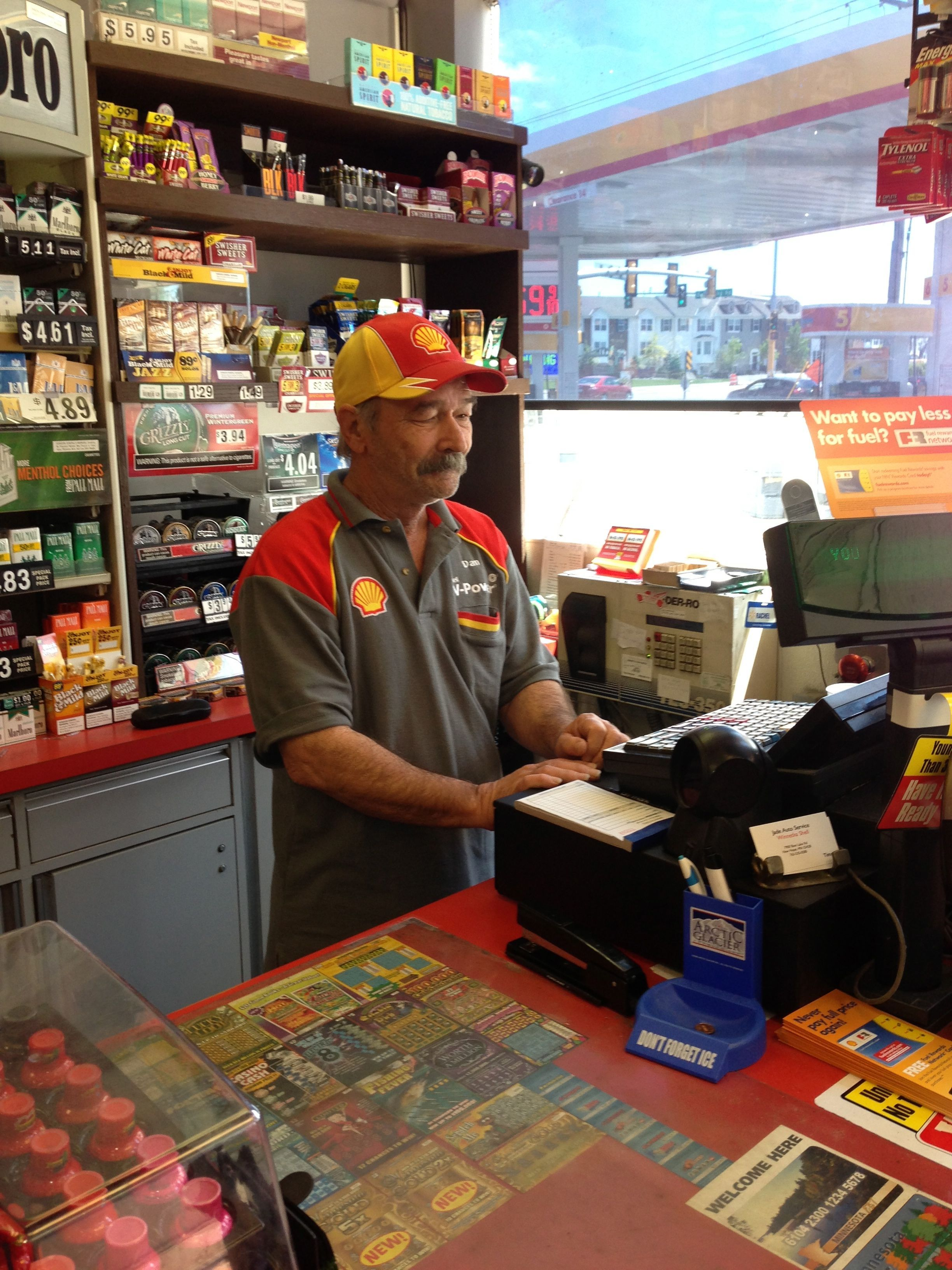 Our afternoon and evening cashier Dan providing friendly