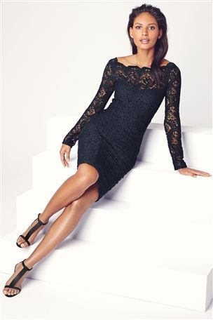 Buy Lace Long Sleeve Bodycon Dress From The Next Uk Online