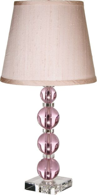 Maura Daniel S Small Uma Table Lamp Is Luscious With Round Pink