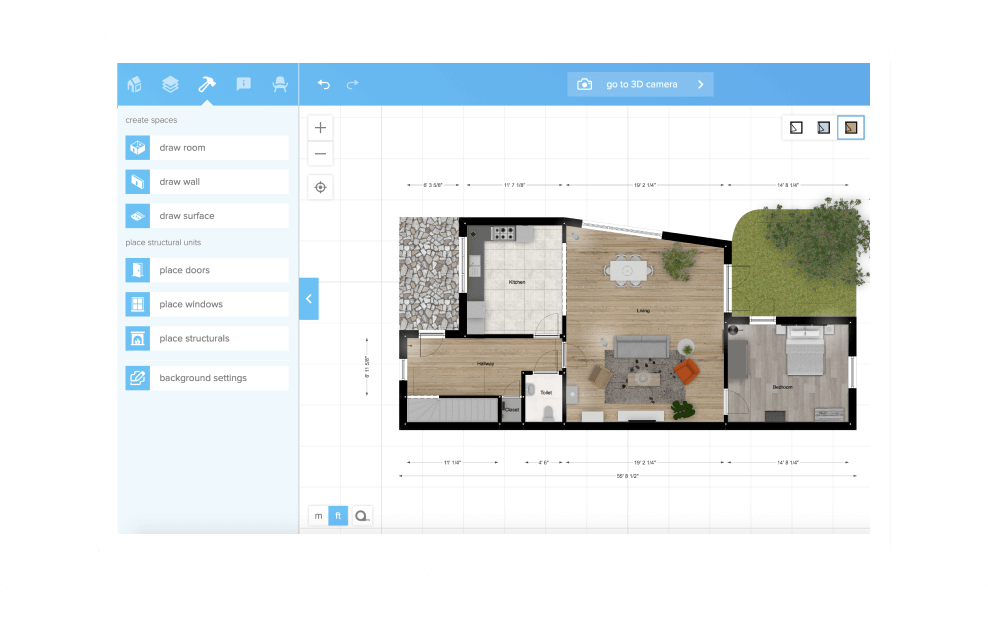 Floorplanner Create 2d 3d Floorplans For Real Estate Office Space Or Your Home Create House Plans Free Floor Plans Create Floor Plan