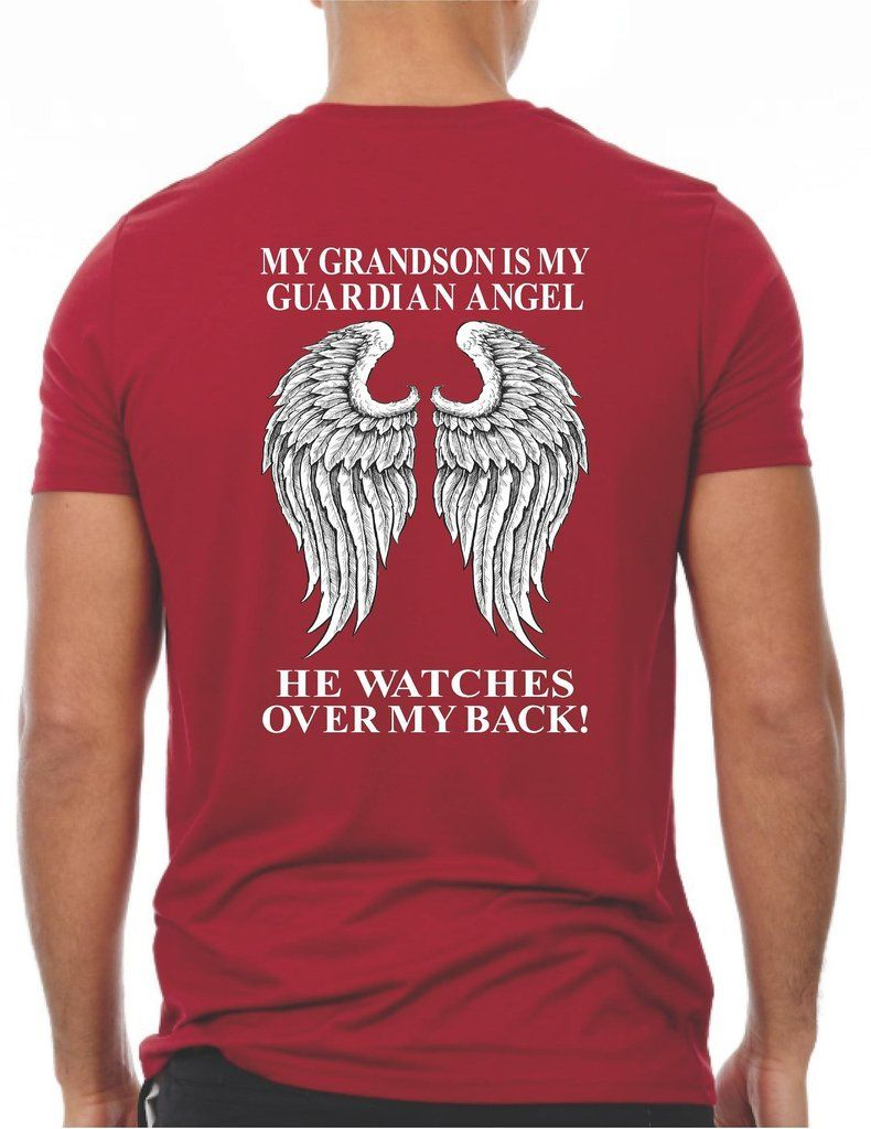 c365003ecb407 My Grandson Is My Guardian Angel T-Shirt