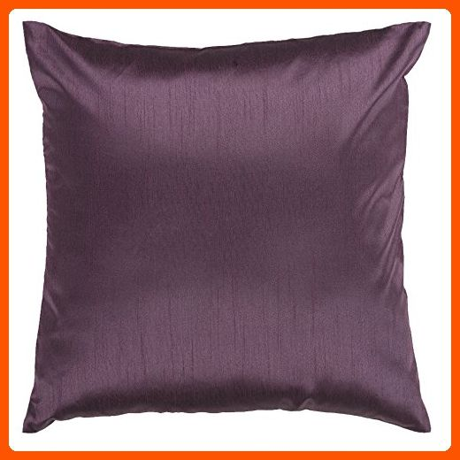 Surya HH40 Hand Crafted 40% Polyester Plum 40 X 40 Solid New Plum Decorative Pillows