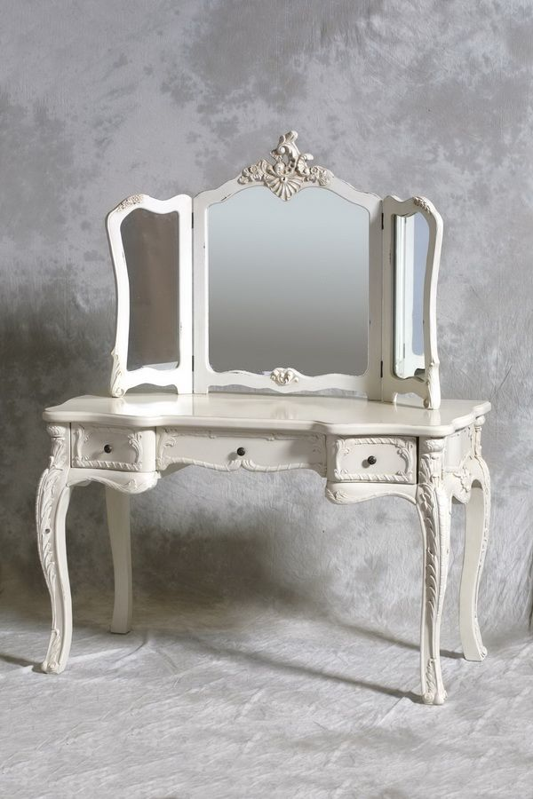 Shabby Chic Vanity Vintage Dressing Tables Mirrored Vanity Table