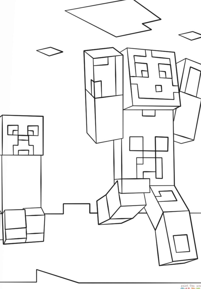 coloring creeper face minecraft pages 2020 Creeper