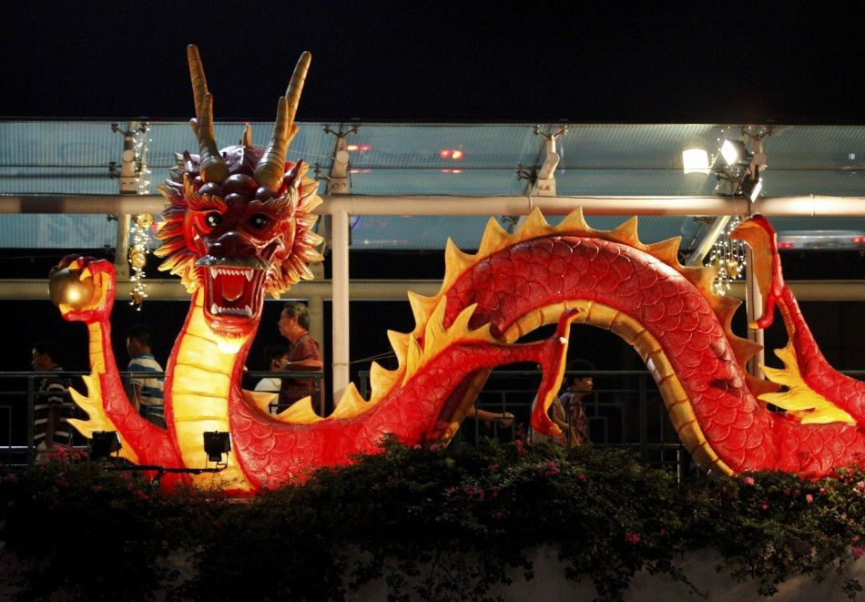 Another Chinese New Year Dragon in red & gold. For information ...