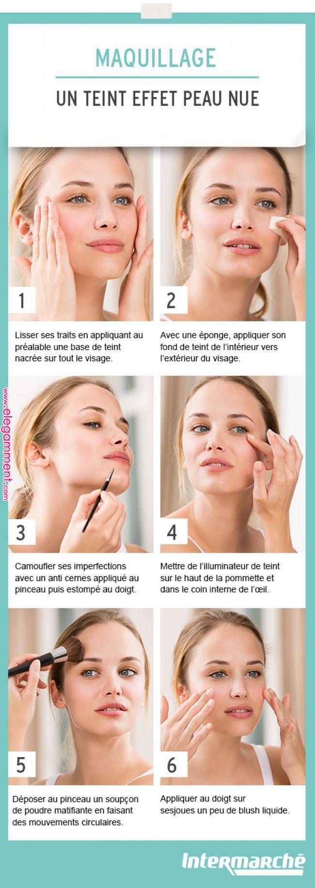 Obtenez en quelques gestes un teint effet peau nue. #tutoriel …