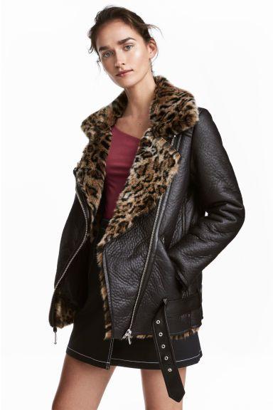 Veste Oversize De Style Motard Kawaii Jas Zwart En Kleding