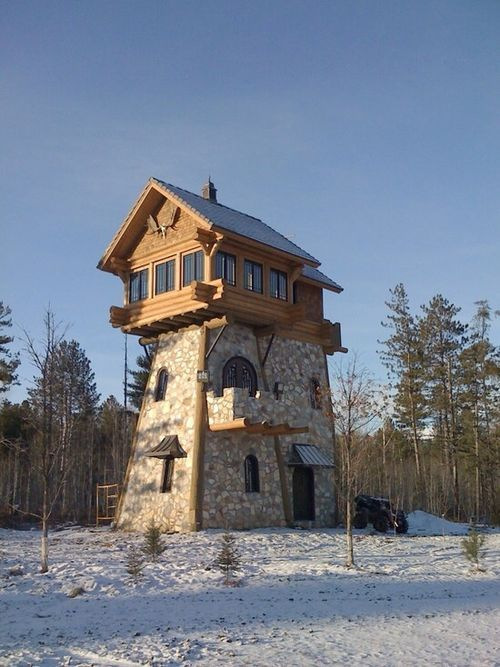 Pin by Kathy Henry on Exteriors Pinterest Tower house Cabin and