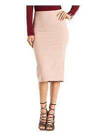 Bodycon High-Waisted Midi Skirt