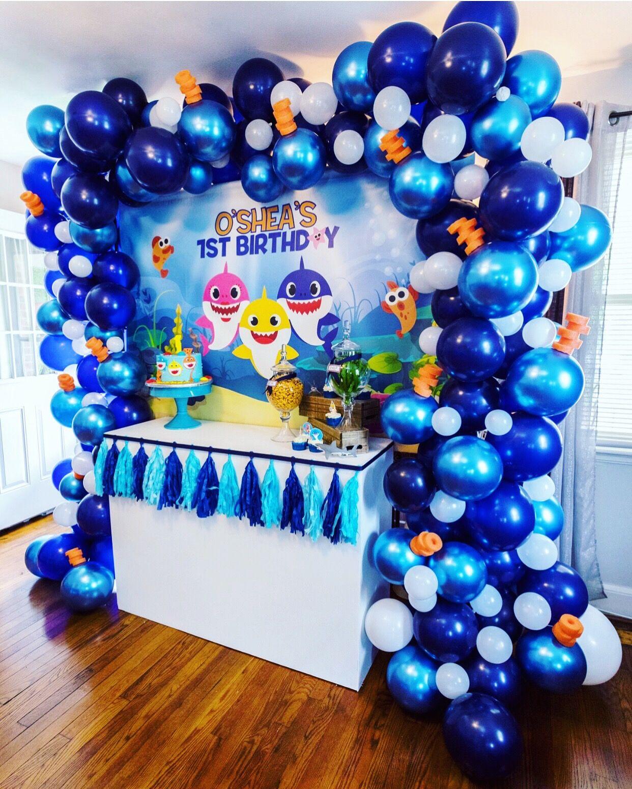 Baby Shark Party Decor Boy Birthday Parties Shark Party Decorations Shark Birthday Party