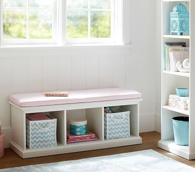 I Need This Catalina Storage Bench Cushion Potterybarnkids Storage Bench Storage Bench With Baskets Storage Bench Bedroom