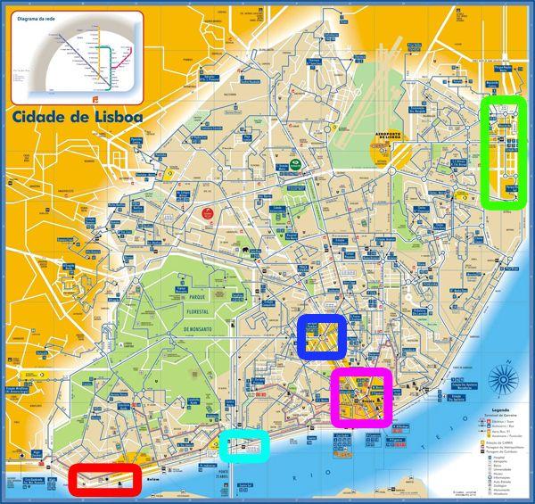 On Visite Quoi A Lisbonne En 2 Jours Lisbonne Lisbonne Carte