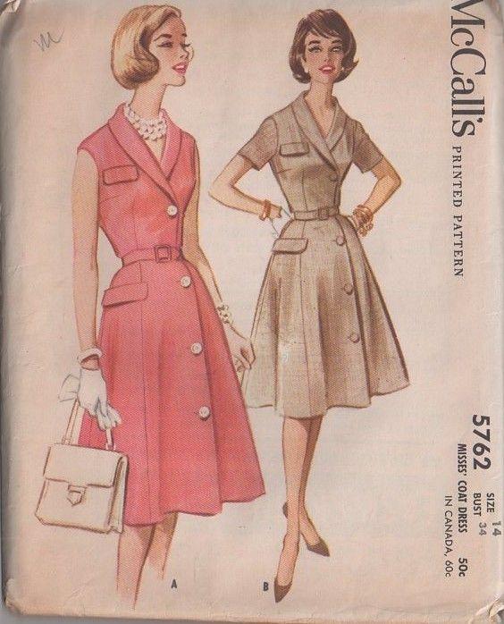 MOMSPatterns Vintage Sewing Patterns - McCall\'s 5762 Vintage 60\'s ...