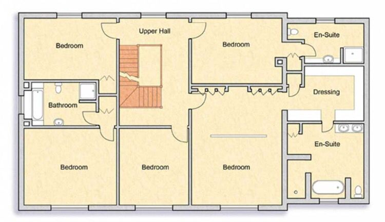 Floor Plan For The Georgian New Build Building A House Self Build Houses Floor Plans