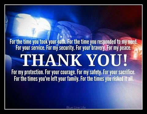 Thank You Police Police Week Police Support Police Officer