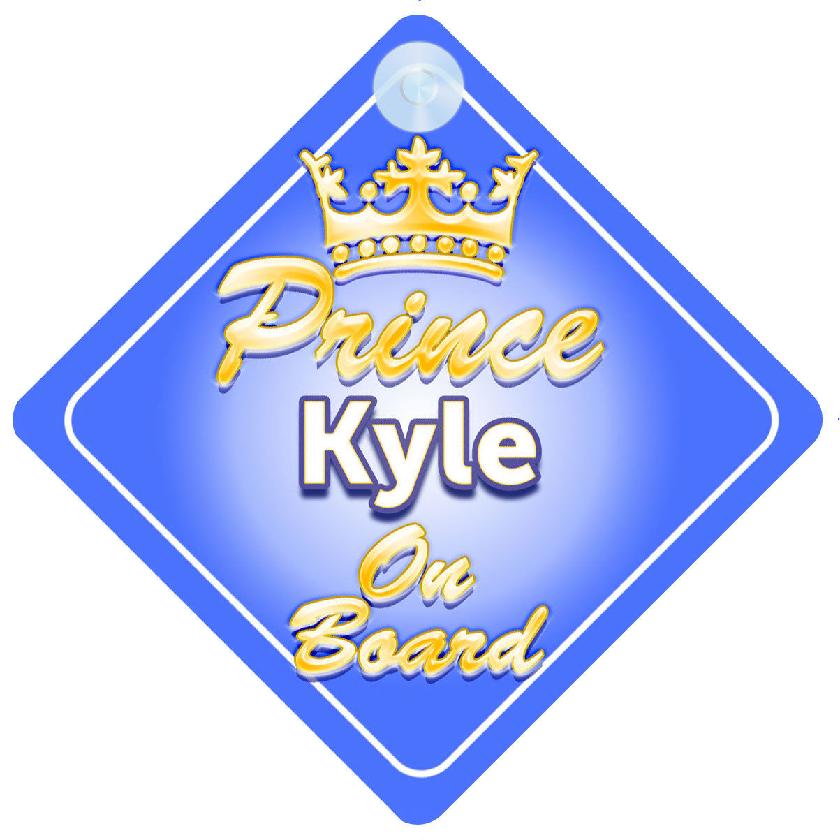 mybabyonboard UK Mummys Little Prince And Princess on Board Car Sign for Children//Baby Boys and Girls Non Personalised Character Theme