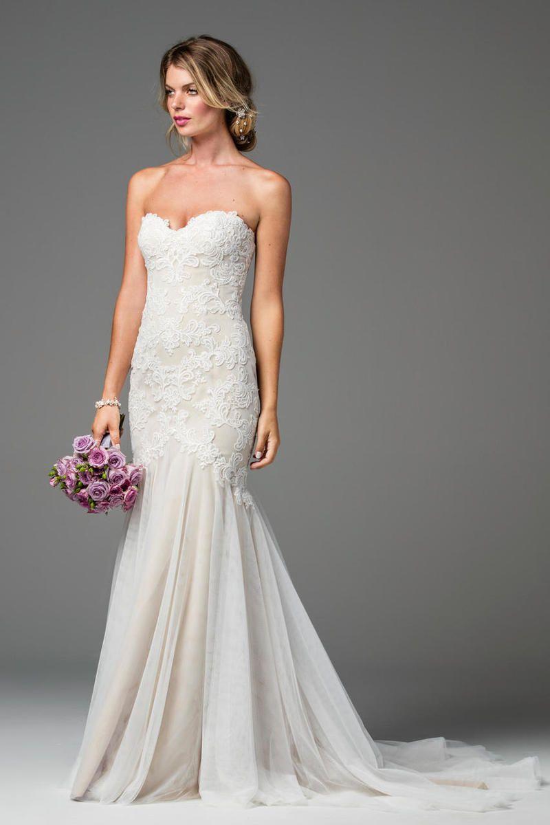 Wtoo ivoryblush lapis mermaid style strapless wedding dress with wtoo ivoryblush lapis mermaid style strapless wedding dress with a sweetheart neckline mid ombrellifo Images