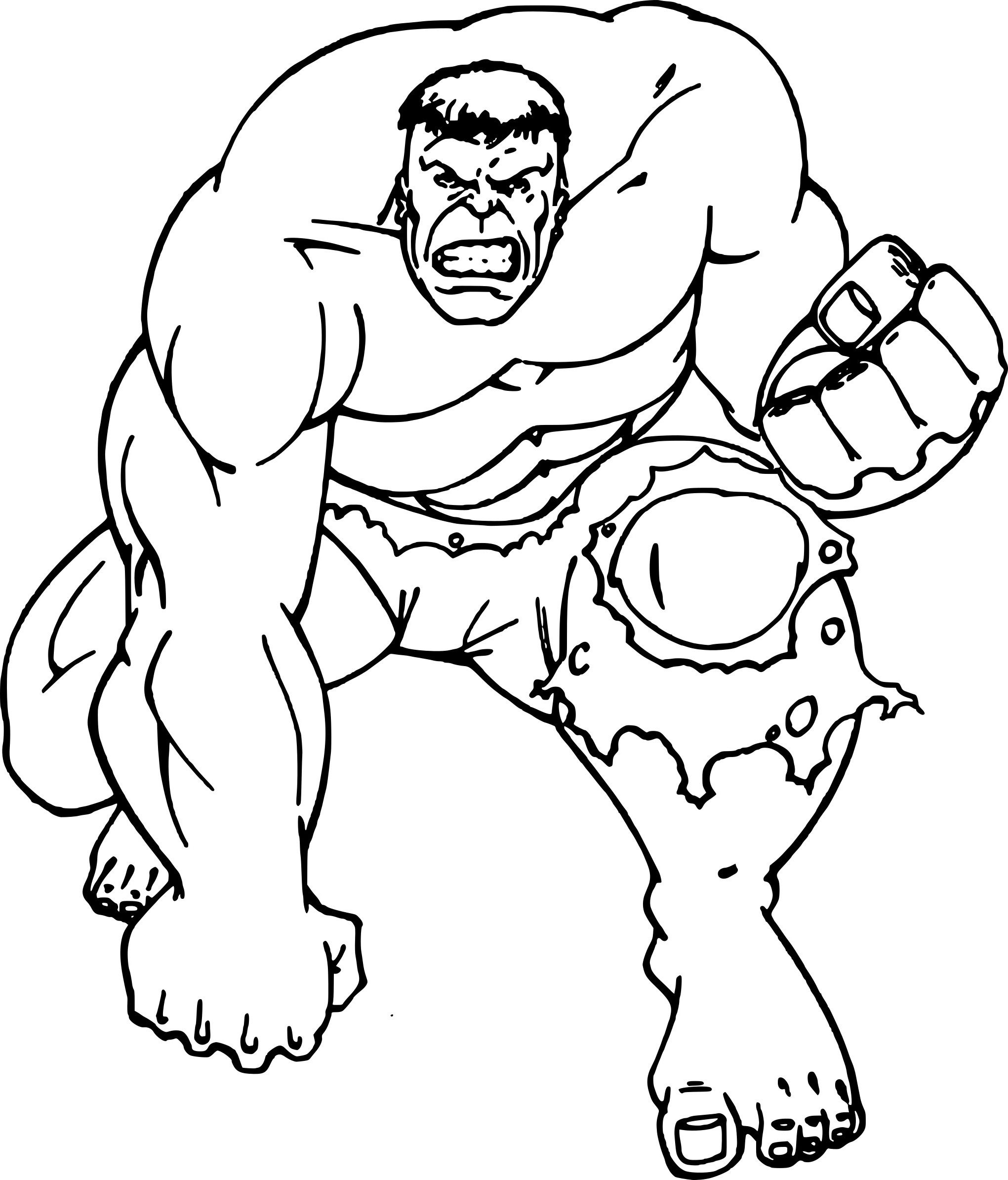 Dessin A Colorier Gratuit Hulk - Free To Print