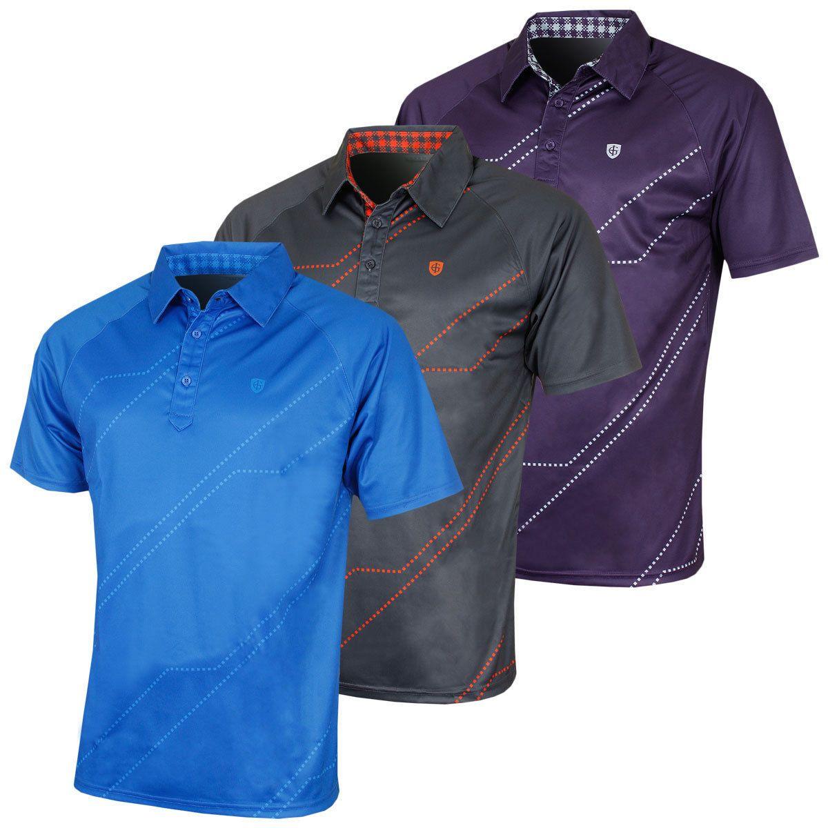 Island Green Mens Digi Detail Coolpass Tech Golf Polo Shirt 50 Off Rrp