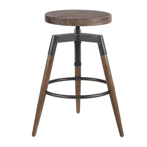 Deskins Adjustable Height Bar Stool With Images Adjustable