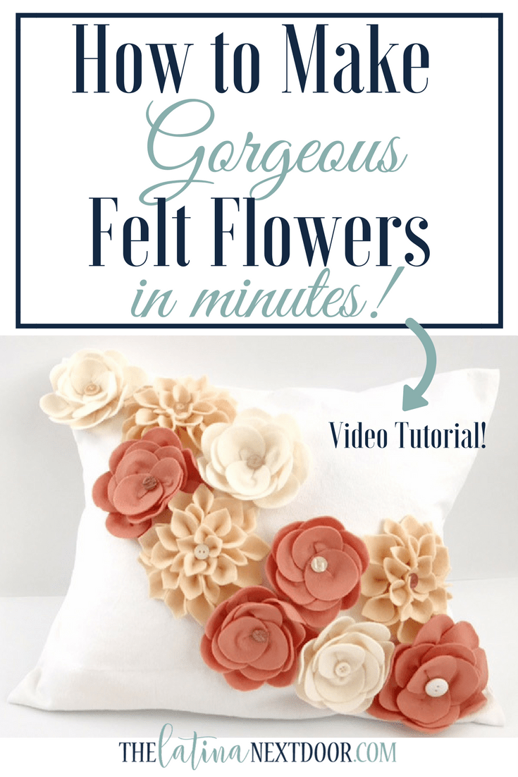 How to Make Felt Flowers 1 Create Felt Flowers for Home Decor or Fashion  Accessories