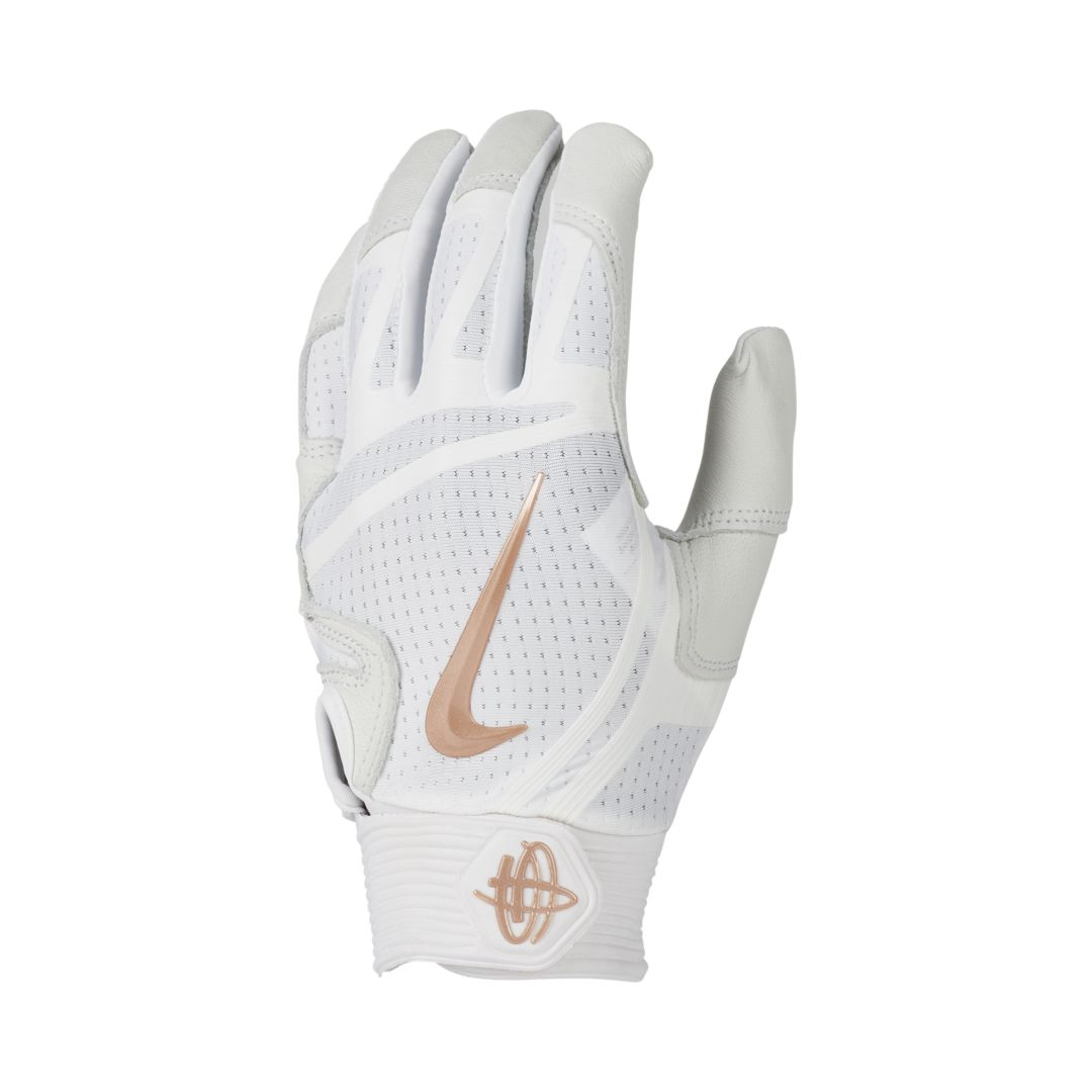 595adea1fb3c Nike Huarache Elite Baseball Batting Gloves Size M (White) in 2019 ...