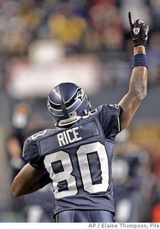 bfcb0d6c5 Jerry Rice wearing Steve Largents number