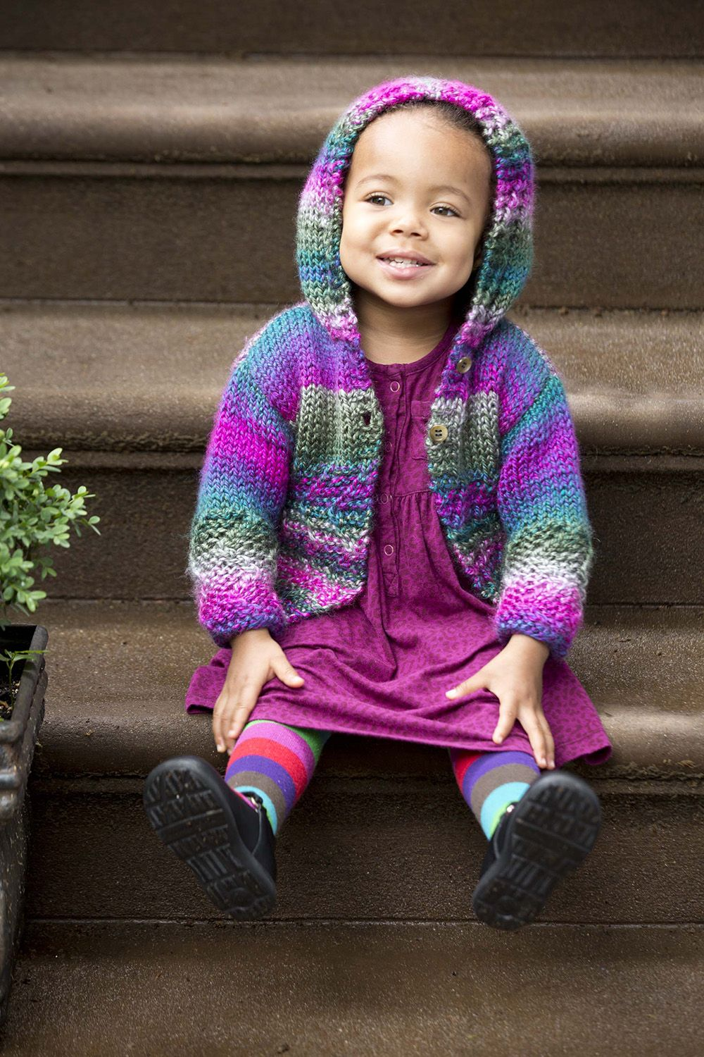 Make this cute Easy Color Hoodie with our Yarn of the Month! Free ...