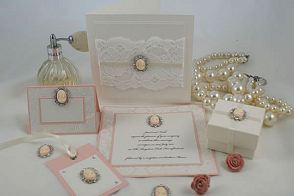 Design Idea To Make Your Own Wedding Stationery And Craft Projects Using Pink Cameo With Crystal