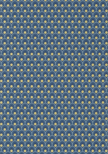 SPENCER, Metallic Gold on Navy, AT79156, Collection Small