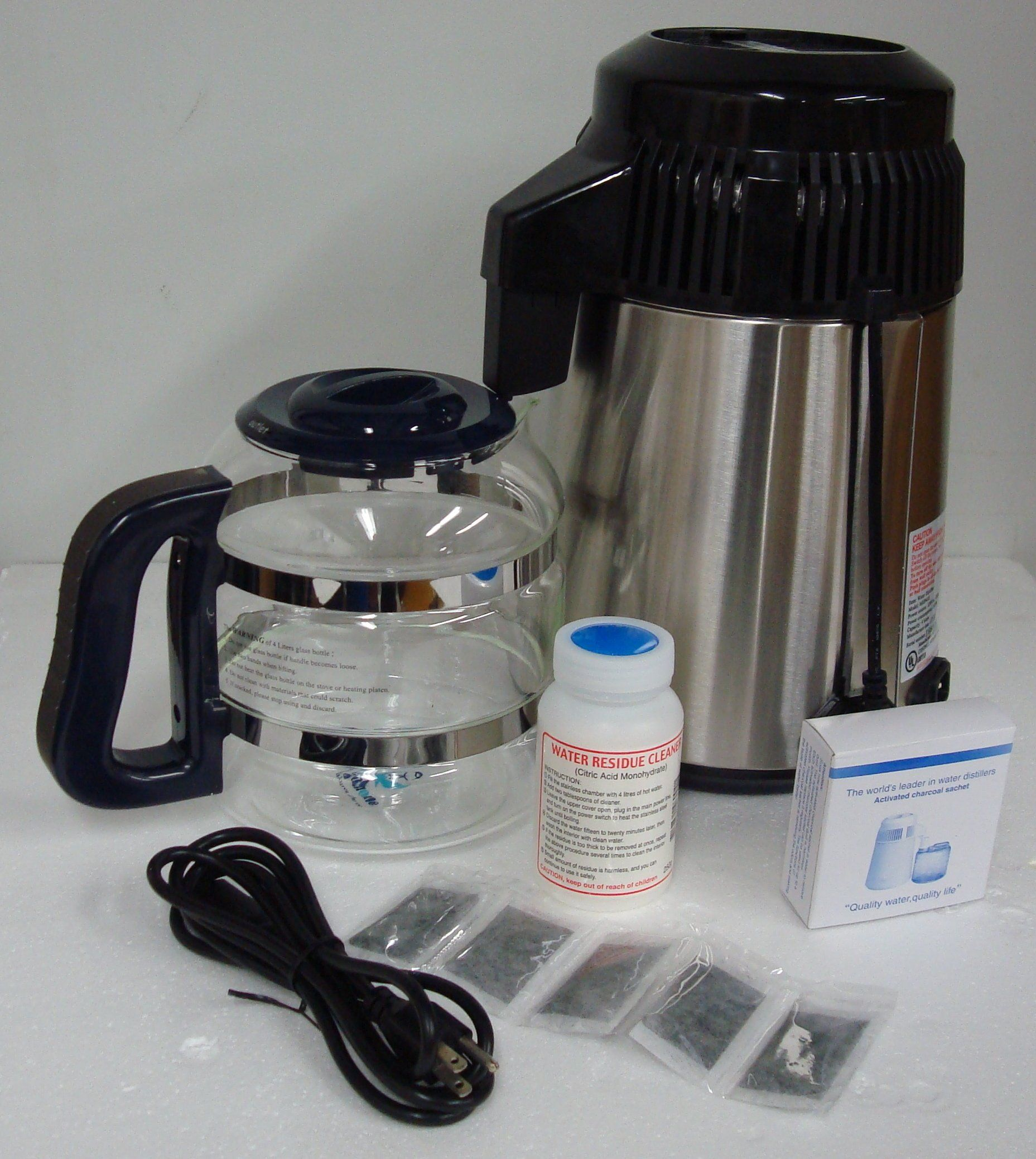 Amazon Com Megahome Countertop Water Distiller Stainless Steel